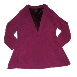 Torrid Burgundy Purple Longline Blazer Jacket
